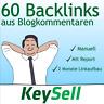 60 Backlinks aus deutschen Blogs | Seo Optimierung | Backlinkaufbau | per Hand