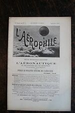 L'AEROPHILE,AVIATION, SEPTEMBRE 1903, N°9  ,SOMMAIRE VOIR PHOTO.