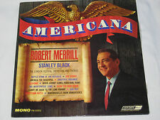 AMERICANA ROBERT MERRILL SINGS USA SONGS VINYL 33 LP RECORD LONDON 55003