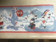 Genuine Vintage Collectible Coca Cola Polar Bear Wall paper Border (14ft 2in)