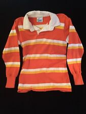 Vintage RUGBY AMERICAN Shirt Striped Rugby Kit Men's M White Orange Yellow