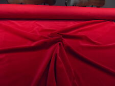 CONTRACT QUALITY Deep Red Velvet Upholstery FABRIC Remnant - PRICE IS PER METRE