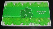 Set of Decorative St Patrick's Day Shamrock Lights Set of 10