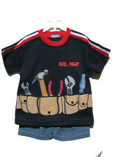 NEW , Boys Summer Suit Set, Tool, Sz: Large (3 to 4 years old)
