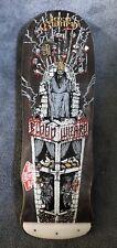 "Blood Wizard ""throne"" Shape Skateboard Deck W Tailblock 10""x31.56"""