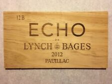 1 Rare Wine Wood Panel Echo Lynch Bages Vintage CRATE BOX SIDE 4/18 396