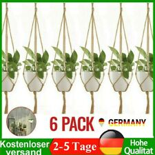 6 Stück Makramee Blumenampel Blumentopf Hängetöpfe Pflanzenhalter Garten Deko DE