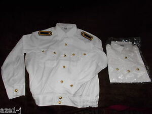 original DDR NVA Volksmarine Admiral General Kapitän Uniform Hemd Bluse weiß VM