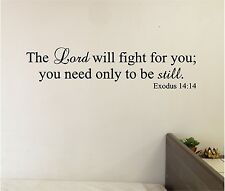The LORD Will Fight for You Wall Sticker Decals Bible Verse Wall Lettering