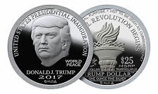 2017 Trump Dollar Inaugural Silver $25 Norfed BU Proof-Like Round USA Made Coin