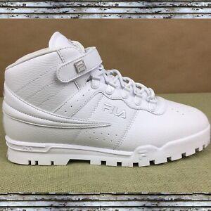 FILA Men's White Logo Mid Plus High Top Sneakers Lace Up Size 10.(D,M) 1FM01156