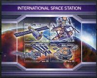 MALDIVES 2018 INTERNATIONAL SPACE STATION  SHEET MINT NEVER HINGED