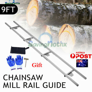 First Cut 9FT Rail Guide & Connector Kit for Chainsaw Milling Attachment Sawmill