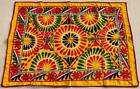 """46"""" x 34"""" Vintage Rabari Throw Embroidery Ethnic Tapestry Tribal Wall Hanging"""