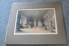 Architecture of the middle age-Princes Room HohenSalburg-Original Print. RARE!