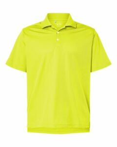 Adidas Climalite Mens Basic Sport Shirt Polo Button Blank A130 Yellow Large