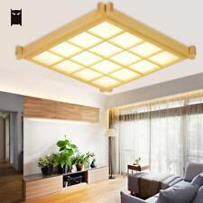 Big LED Wood Tatami Thin Ceiling Light Fixture Japanese Lamp Living Room Bedroom