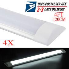 4x 4Ft 40W Batten Light Shop Light Utility Led Cool White for Office Garage