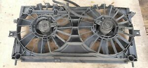 00-03 Chevy Monte Carlo Electric Dual Radiator Fans w Shroud & Wire Pigtail