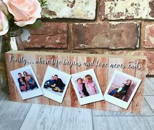 Personalised Family Photo Block, Family Gift, Mummy, Daddy, Nanny, Grandad, Aunt