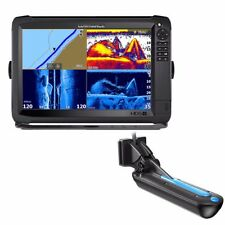 NEW Lowrance Hds-12 Carbon 3d Bundle With 3d Transom Mount Transducer And C-map