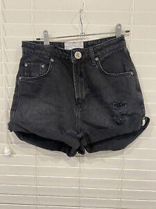Womens One Teaspoon Black Bandits  High Waist Shorts 26