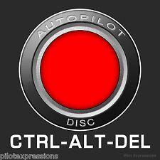 Pilot's CTRL-ALT-DEL Aviation Sticker/Aviation Decal/Pilot Sticker/Luggage Decal