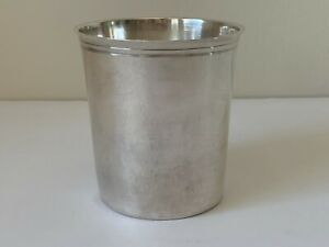 Antique French Hallmarked Silver Cup 85 Grams
