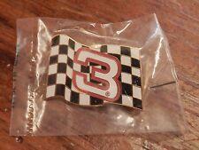 Dale Earnhardt Sr - #3 - NASCAR Flag - Pin / Hat Pin  - Sealed in Bags