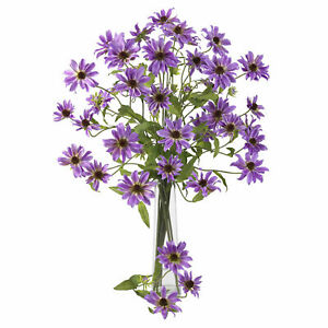 """28.5"""" Cosmo Stem Set Of 12 Purple Flower Nearly Natural Home Decoration"""