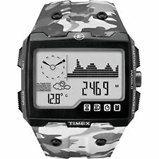New* Timex Expedition WS4 Watch T49841 Grey Camo Altimeter Compass Barometer ABC