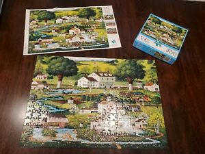 Charles Wysocki Country Gardens 300 Large PC Puzzle Used Complete Buffalo Games