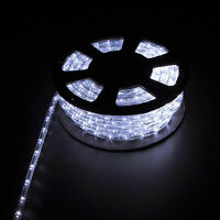 100FT Cold White LED Rope Light Home Party Wedding Decor In/Outdoor Festival