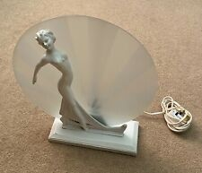 Stunning Antique Art Deco Lady Table Lamp