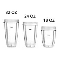 Replacement Parts Tall Jar Cup Mug Compatible with 250w Magic Bullet Nutri Ninja