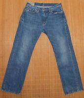 Mens 32 30 Polo by Ralph Lauren Classic Wash Clinton Denim 5 Pocket Blue Jeans