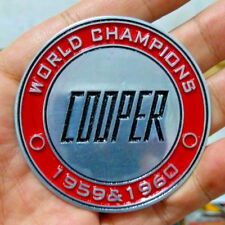 1959 1960 MINI Cooper World Champions VINTAGE CAR BADGE BEAN FOR SALE BMC DRIVER
