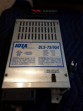 Iota Dls-75 12 Volt 75 Amp Automatic Battery Charger / Power Supply New
