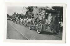 Circus Photography - Horse Drawn Car - Vintage Glossy Snapshot - Chicago, 1917