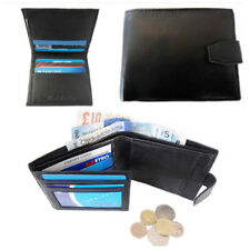 Gents Wallet Genuine Leather Bifold Mens Purse Credit Card Case ID Money Holder