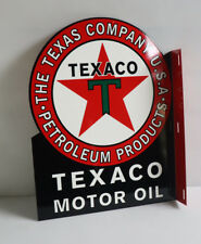 New ListingTexaco Red Star Motor Oil Flange Sign gas station Modern Retro