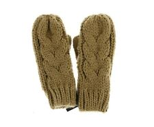 TOPSHOP 132156 Women's Brown Cable Mittens