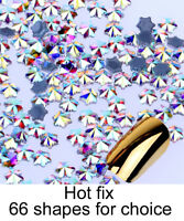 Special Shape Crystal AB Iron On Hotfix Rhinestones Hot Fix Flatback Stones
