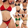 Bikini donna triangolo lurex glitter due pezzi costume da bagno mare S-89226-1