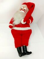 Vintage Rubber Faced Santa Claus Christmas Plush Doll 20 in Tall