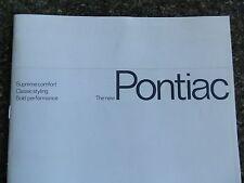 1966 PONTIAC ''RARE'' AUST RHD SALES BROCHURE. 100% GUARANTEE