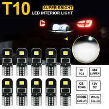 10X 12V T10 194 168 W5W Smd Led Car Hid White Canbus Error Free Wedge Light Bulb(Fits: Neon)