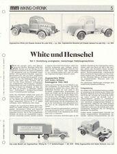 WIKING CHRONIK WHITE und HENSCHEL ZUGMASCHINEN Teil 1, ..von 1988