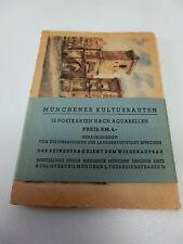 altes Set Vorkieg OVP mit 12 Postkarten Münchner Kulturbauten München  #1099