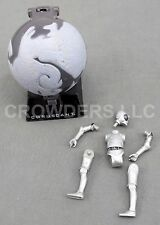 Coruscant Action Globe & 2008 Fall Apart Droid MB-RA7 Star Wars Action Figure